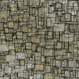 grunge mosaic tile fragmented backdrop in gray