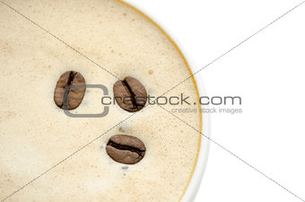 Top view of a coffee