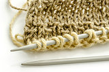Knitting closeup