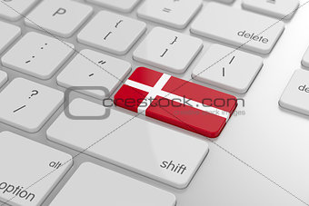 Danish flag button