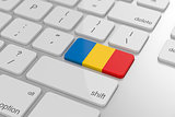 Romanian flag button