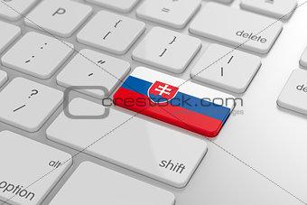 Slovak flag button