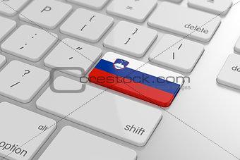 Slovenian flag button