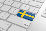 Swedish flag button