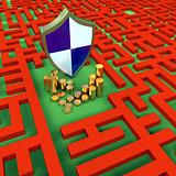 Coins Shield Maze