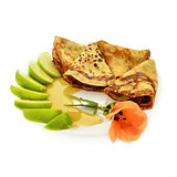 Crepes with honey and apples
