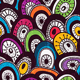 Colorful  hand-drawn pattern.