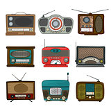 Retro radio icons