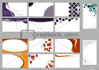 Backgrounds for business cards