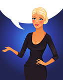 Speaking business woman