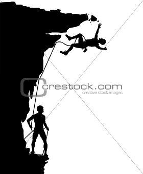 Climber fall