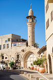 street with minaret in tel aviv israel