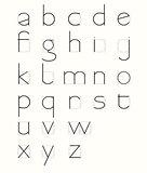 Skeleton Minuscule Letters