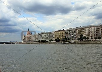 At the river Danube in Budapest.