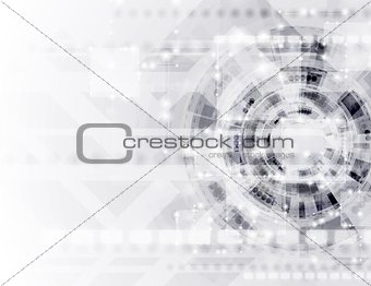 Abstract modern technology vector template
