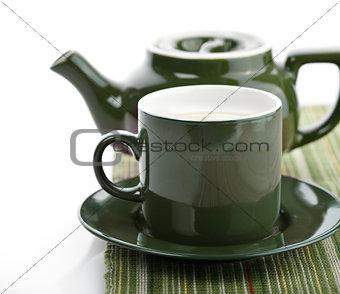 Green Tea Pot And Cup