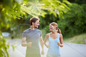 Sporty couple