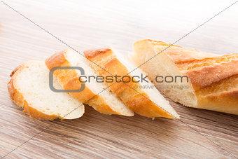 Slices of baguette