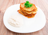 Delicious potato pancakes