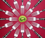 set of forks