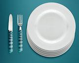 empty white plates