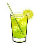 Glass of a lemon