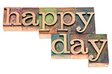 happy day typography