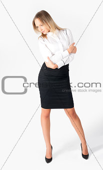 positive business woman smiling
