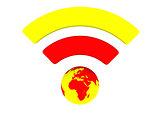 Bright WiFi symbol
