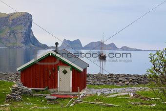 Fishing hut in Norway
