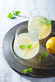 fresh lemonade in glasses
