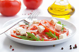 salad with beef tomatoes and feta