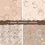 Collection of grunge coffee patterns