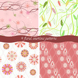 Set of 4 floral patterns