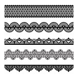 Set of lace trims.