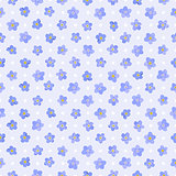 Seamless floral pattern with forget-me-not flowers.