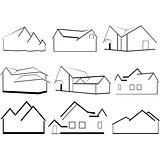 Outlines of houses