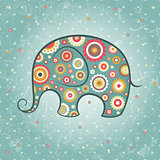 Abstract floral elephant.