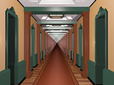 Never Ending Art Deco Corridor