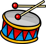 drum clip art cartoon illustration