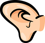 ear clip art cartoon illustration