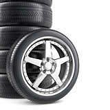 Wheels background