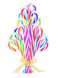 Colorful Candy Canes Christmas Tree