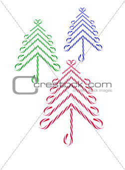 Candy Canes Christmas Trees