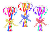 Bundles of Colorful Candy Canes