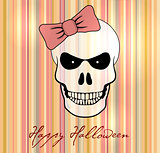 Halloween vector card. Rustic and comic style