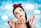 Inspire to create. Pinup your dreams to the sky