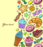 seamless pattern of sweets