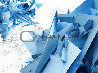 blue abstract corners on a light background