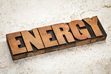 energy word typography